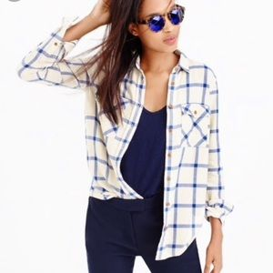 J Crew Boyfriend Flannel in Rockport